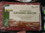Ground bison, great for burgers and meat loaf.