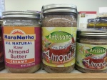 Various options for almond butter.